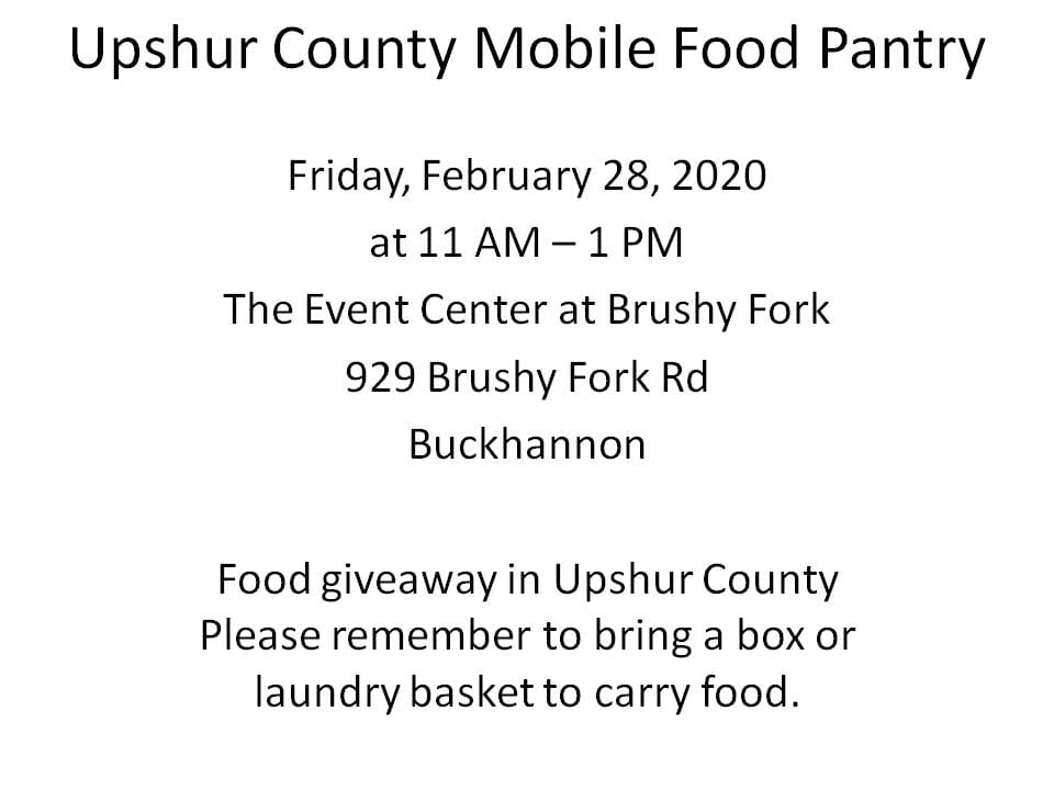 This image has an empty alt attribute; its file name is Upshur-County-Mobile-Food-Pantry.jpg